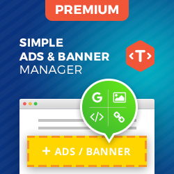 Inline ads & banner manager