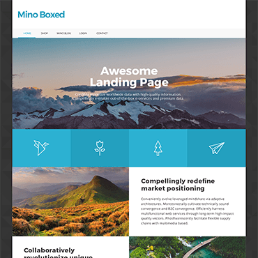 Boxed Landing Page