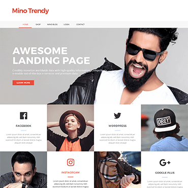 Trendy Landing Page