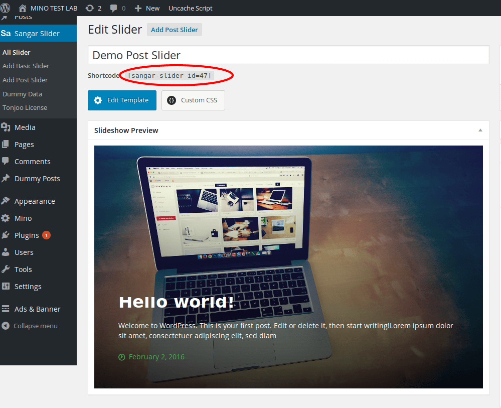 wordpress post slider plugin