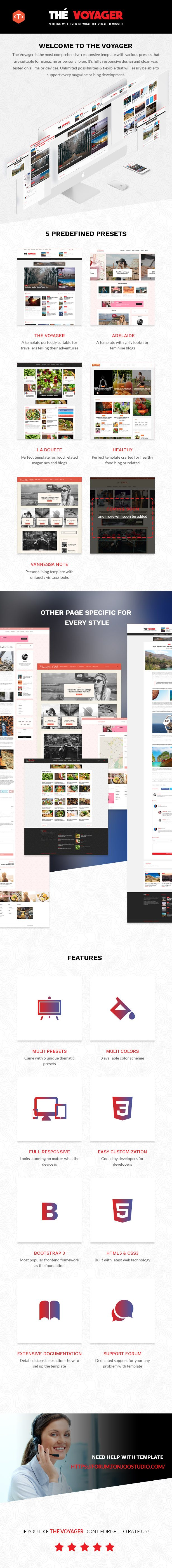 The Voyager - Multi Purpose Magazine and Blog HTML Template - 1