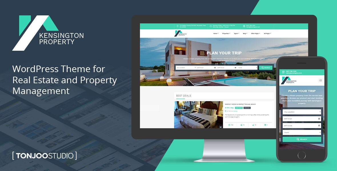 Kensington - Real Estate Property Management WordPress Theme